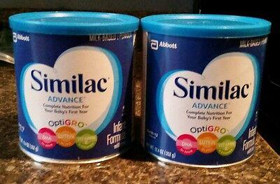 SIMILAC ADVANCE INFANT FORMULA 12.4 OZ OPTIGRO BRAND NEW- LOT of 2