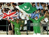 eng vs pak one day int ' nottingham row c 3 tickets @150 each