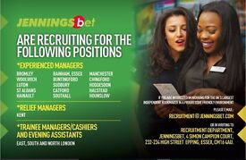 Betting Shop Managers and Cashiers Required in South East London