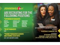 Betting Shop Managers and Trainee Duty Managers required in East Hertfordshire