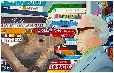 Original Royal Tenenbaums Art Print Poster Richie Margot Wes Anderson Zissou Blu