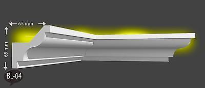 16 m + 4 Innenecken Indirekte Beleuchtung LED Decken Stuckleiste Profil BL 04