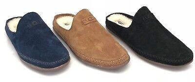 Ugg Tamara Slip-on House Slippers, Suede, Wool Insole in Black, Blue & Chestnut