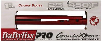 "New BaByliss Pro Ceramix Xtreme 1"" Ceramic Hair Straightening Flat Iron BAB9555X"