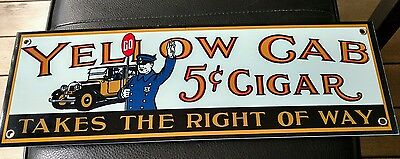 Yellow Cab Cigar Cigars Tobacco sign