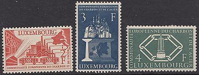 LUXEMBOURG : 1956 European Coal & Steel Community  set SG 606-8 mint