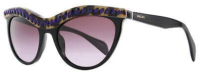 Prada Sunglasses SPR04P MA5-5F1 Shiny Black/Purple 04PS