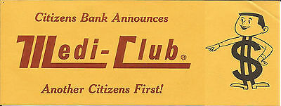 Brochure Medi Club Citizens Bank First Money Sign Logo Original Productsovertime