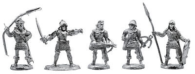 5 Piece Town Guard Set - 100% Lead-Free Pewter - Classic Fantasy Miniatures for