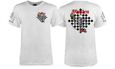 Powell Peralta Bones Brigade Rodney Mullen Chess Shirt White Medium