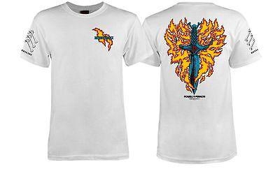 Powell Peralta Bones Brigade Tommy Guerrero Flaming Dagger Shirt White Xxl on Sale