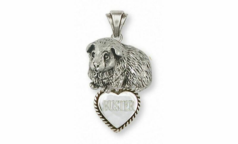 Guinea Pig Pendant Jewelry Sterling Silver Handmade Piggie Pendant GP8-TP