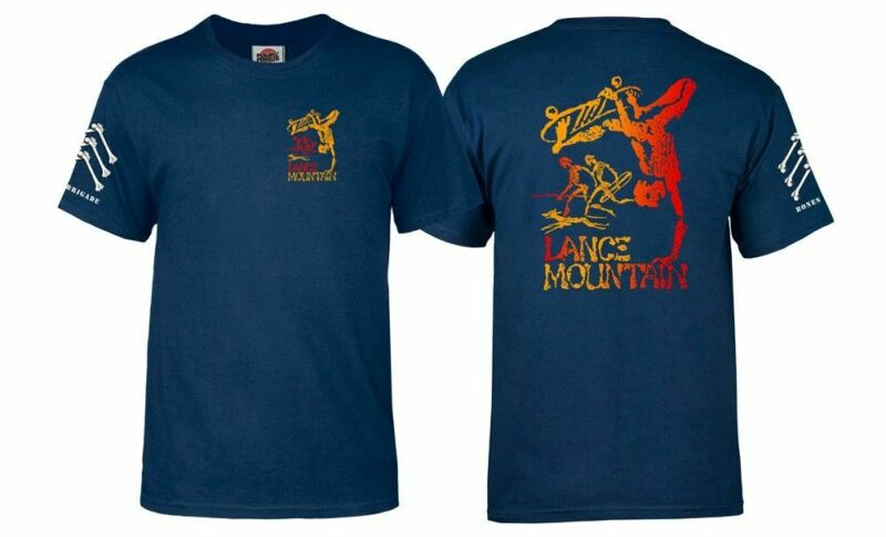 Powell Peralta BONES BRIGADE Lance Mountain FUTURE PRIMITIVE Shirt NAVY XL