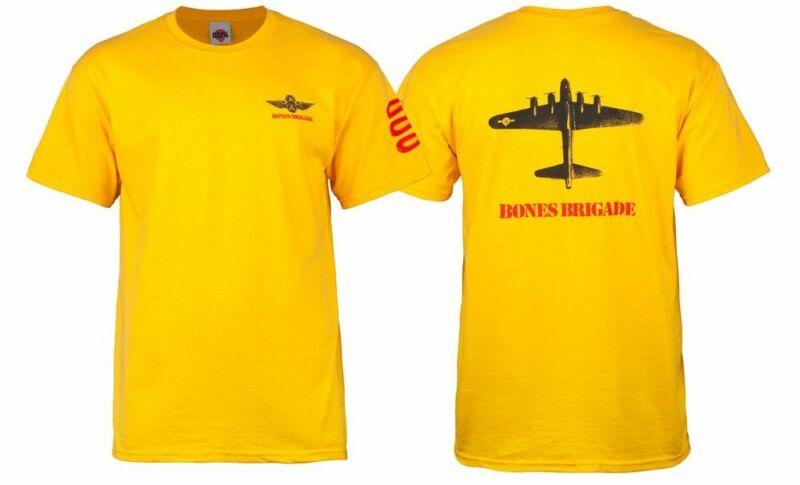 Powell Peralta BONES BRIGADE BOMBER Skateboard Shirt GOLD XL