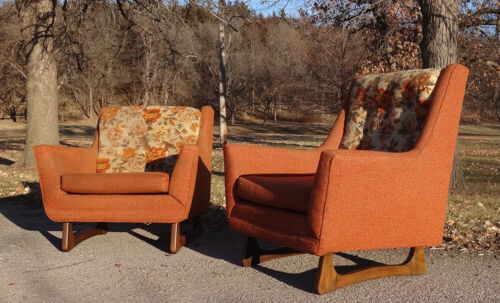 PAIR Vintage 1960s Lounge Chairs-MCM-Pearsall Era