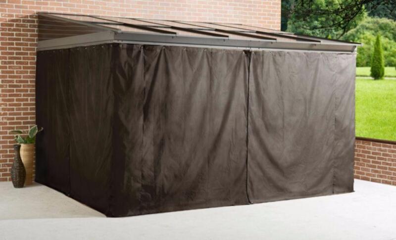 rideaux pour gazebo sojag pompano 12x16 patio garden