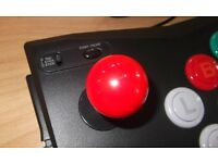 Nintendo GAMECUBE Arcade Stick - by Logic 3 - with Red Joystick Mod!
