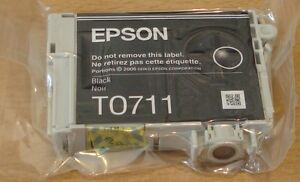 GENUINE EPSON T0711 TO711 black cartridge vacuum sealed ORIGINAL CHEETAH INK