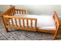John Lewis junior toddler bed with mattress and covers