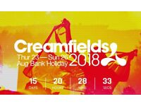 1 x gold 3 day camping creamfields ticket and parking