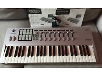 Korg Kontrol 49 Midi Controller USB or Din Connections. Comes with Power Supply and Booklets