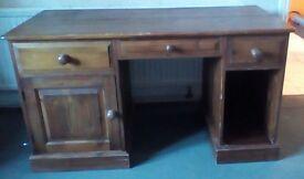 Solid pine desk for sale.