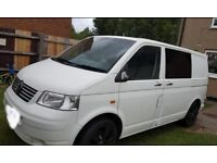 White VW Transporter converted campervan