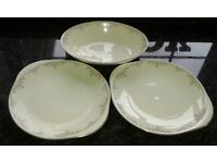 2 Serving Plates and one Vegetable Dish - Royal Doulton Romance Collection - Ghiselle Series