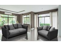 BLACK /GREY OR BROWN /BEIGE -- NEW BYRON JUMBO CORD CORNER OR 3 AND 2 SEATER SOFA SET - GET IT NOW
