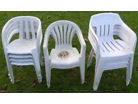10 Garden / Patio Chairs