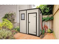 New Keter Manor Pent Outdoor Plastic Garden Storage Shed, 6 x 4 feet Free Delivery + Assembly