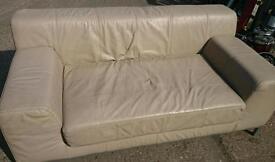 Leather large 2 seater sofa