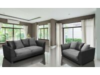 🔥💗🔥BLACK GREY BROWN BEIGE MIX OR PLAIN🔥🔥Dylan Byron Jumbo Cord Double Padded Corner or 3+2 Sofa