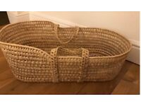 Palm leaf natural undressed handwoven baby Moses basket new born baby crib baby sleep carrier