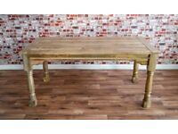 Sherston Rustic Very Large Extending Rustic Farmhouse Dining Table - Brand New