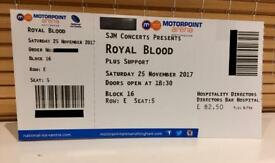 2x Tickets for Royal Blood at Nottingham Motorpoint Arena.