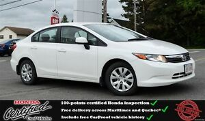 2012 Honda Civic LX Bluetooth, One Owner !!