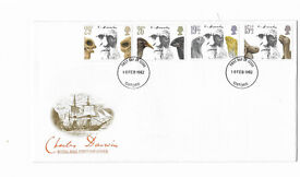 Royal Mail First Day Cover. Charles Darwin. Issued 10 Feb. 1982. Unaddressed