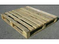 21 wooden pallets and chipboard for touring caravan flooring