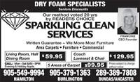Sparkling Clean Carpet & Furniture Cleaning Using Dry Foam