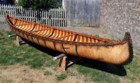 16ft Handmade Wooden Birch Canoe