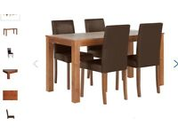 Brand new Solid wood dining table 4 chairs