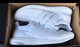 Full white trainers brand new uk 9 ultra boost