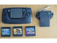 console sega Game Gear - recapped with new capacitors + 3 games + TV Tuner