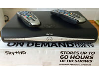 Sky+ HD box with 2 remotes and leads.