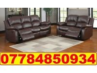 SOFA BRAND NEW RECLINER LEATHER SOFA FAST DELIVERY