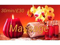 Neck/Shoulder/Back massage 30min/£30 Earls Court