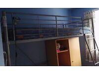 bunk bed with wardrobe