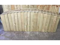 BOW TOP FEATHER EDGE TANALISED WOODEN FENCE PANELS ~ HIGH QUALITY 🌳