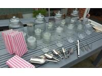 Glass Jars Bowls and Scoops for Wedding Party Sweet / Candy Buffet